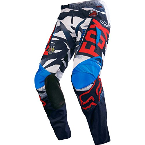 2016 Fox Racing Kids 180 Vicious Pants (k4, Blue/white)