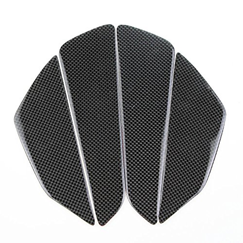 PRO-KODASKIN Real Carbon Left and Right Tank Pad Sticker Decal Emblem GRIPPER STOMP GRIPS EASY for All Motorcycle