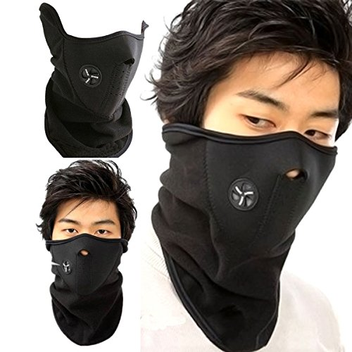 SIHE Dust Pollution Smoke N95 Mouth Mask Ski Masks Neck Worm Winter Cold Weather Half Face Mask For Motorcycles Bicycle Skiing RunningMountain Climbing Black