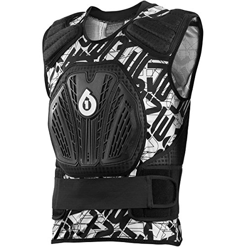 Sixsixone Youth Core Saver Chest Protector (white/black, One Size)