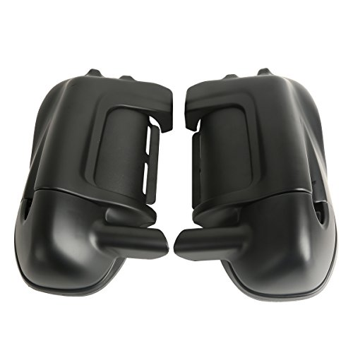 XMT-MOTO Lower Vented Leg Fairings Glove Box For Harley touring models FLT FLHT FLHTCU FLHRC Road King Street Glide Electra Glide Ultra-Classic Road Glide 1983-2013Matte Black