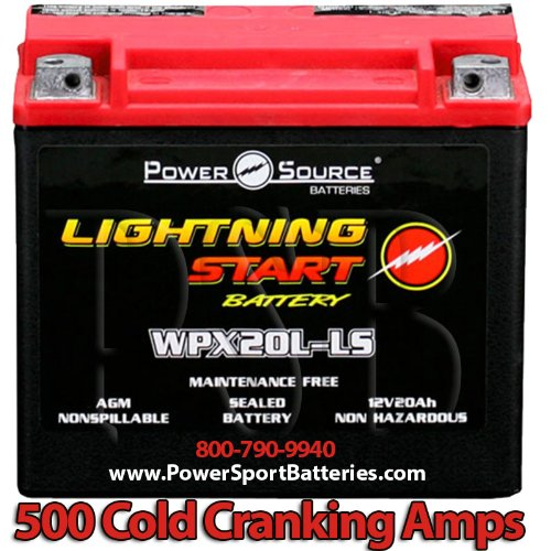 Harley FXSTC Softail Custom 1340 1584 500cca Lightning Start 20ah High Performance Sealed AGM Motorcycle Battery replacement for year 1991 1992 1993 1994 1995 1996 1997 1998 1999 2007 2008 2009 2010