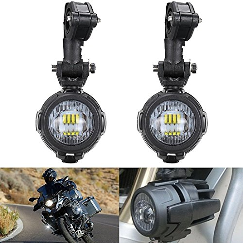 2 Pcs 40W LED Auxiliary Lamp 6000K Super Bright Fog Driving Light Kits Led Lighting Bulbs DRL For Motorcycle BMW K1600 R1200G