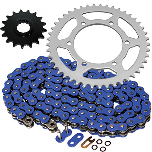 Caltric O-Ring Blue Drive Chain Sprockets Kit Fits YAMAHA R1 YZFR1 YZF-R1 2006-2008