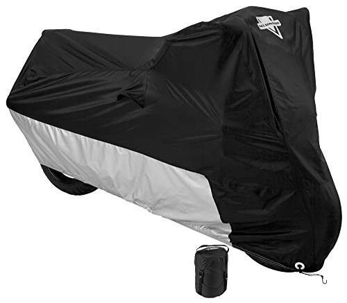 Nelson-Rigg Deluxe Motorcycle Cover Weather Protection UV Air Vents Heat Shield Windshield Liner Compression Bag Grommets X-Large fits Medium Cruisers WAccessories and Sport Touring bikes