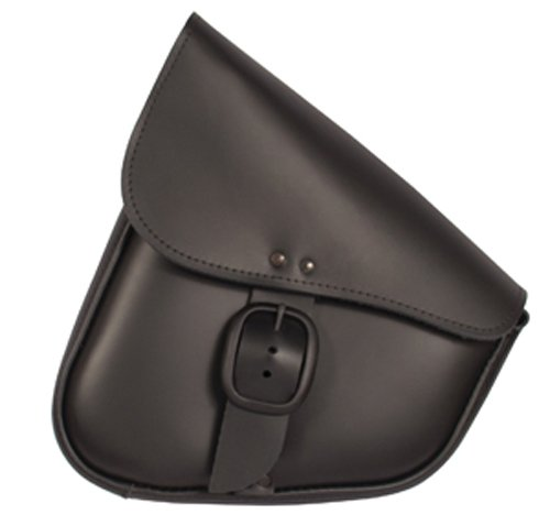 Willie Max By Dowco - Triangulated Motorcycle Swingarm Bag - Lifetime Limited Warranty - UV Protection - Leather - Matte Black Buckle - Black - Up To 9L Capacity  59893-00