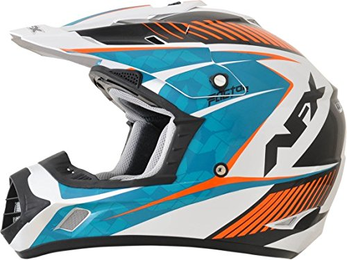 AFX FX-17Y Factor Complex Youth Motocross Helmets - BlueOrange - Youth Large