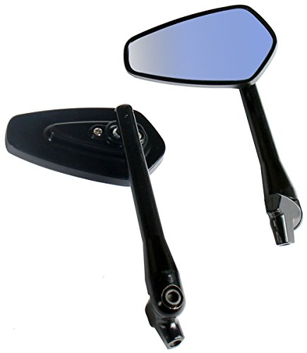 One Pair Black Arrow Rear View Mirrors for 1980 Harley-Davidson Super Glide Electric Start FXE