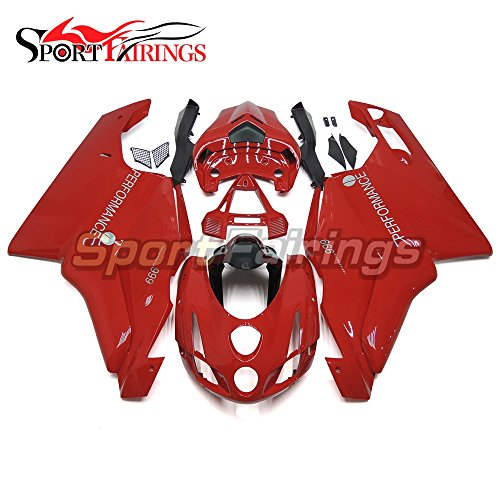 Sportfairings Injection ABS Plastic Complete Fairing Kits For Ducati 999 749 Monoposto 2003 2004 Motorcycle Bodyworks Red Panels