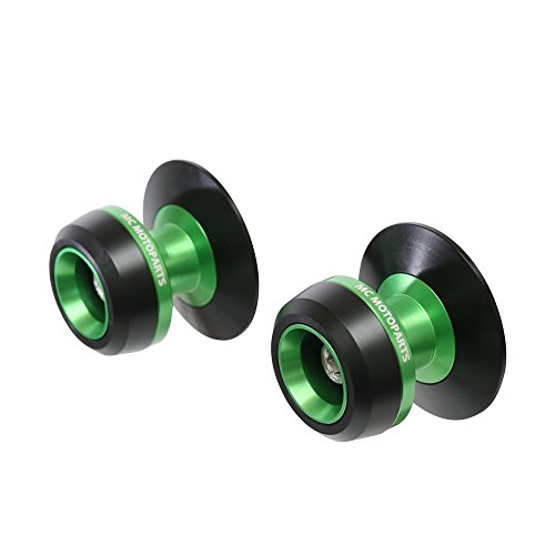 Twall Green 8MM CNC Swingarm Spools For Kawasaki Ninja 1000 2014-2017