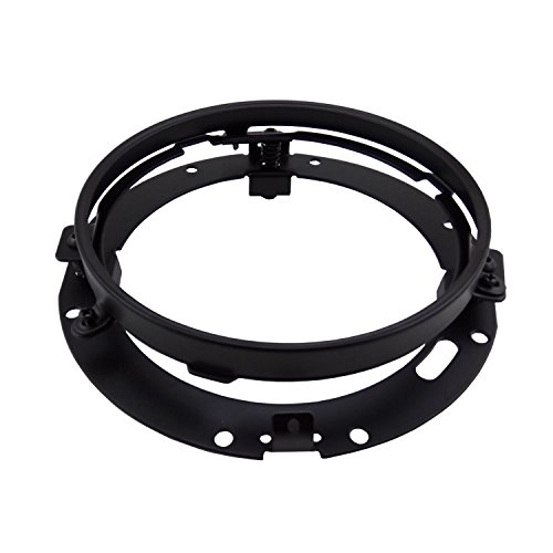 Wecade 7 Inch Round Headlight Ring Mounting Bracket for Harley Davidson Headlight Mount Black