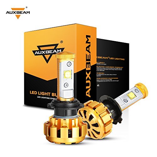 Auxbeam LED Headlights F-16 Series H7 LED Headlight Bulbs with 2Pcs of headlights 60W 6000lm CREE LED Chips Fog Light - 1 Year Warranty