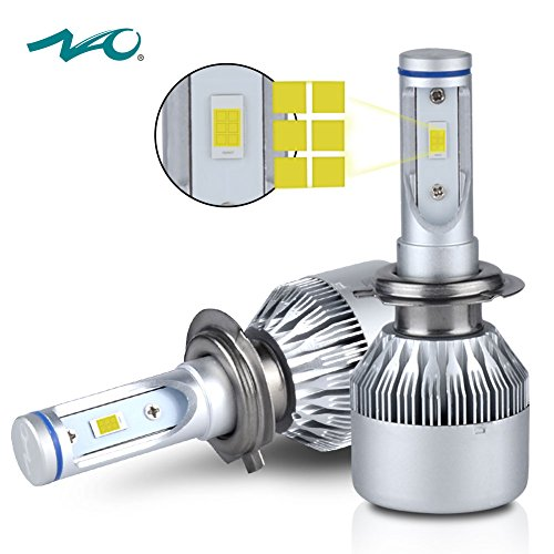 H7 LED Headlight BulbNAO Car LED Headlights Conversion Kit with Advanced LED Chip72W 7600LM 6K- 2 Yr Warranty