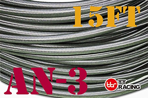 -3 AN AN3 Stainless Steel Braided Fuel Line Hose 318 mm 18 – Price for 15FT