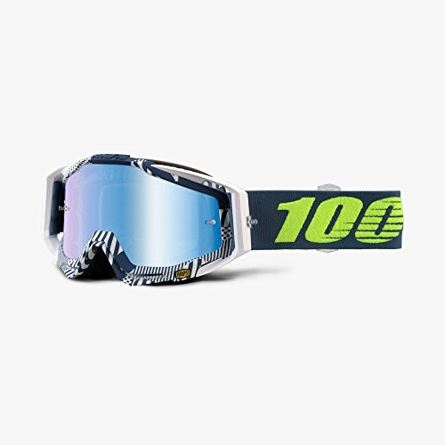 NEW 100 Racecraft Eclipse MX Motocross Goggle with Blue Mirror Lens