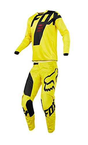 Fox Racing 2018 180 Mastar JerseyPants Adult Mens Combo Offroad MX Gear Motocross Riding Gear Yellow