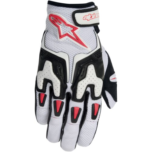 Alpinestars Smx-3 Air Men's Leather/mesh Street Motorcycle Gloves - White/black/red / X-large