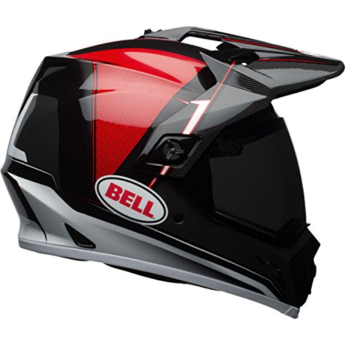 Bell MX-9 Berm Adventure MIPS Full-Face Motorcycle Helmet Gloss BlackRedWhite Small