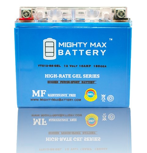 YTX12-BS 12V 10AH GEL Battery for Piaggio Vespa LX150 4T 2012 - Mighty Max Battery brand product