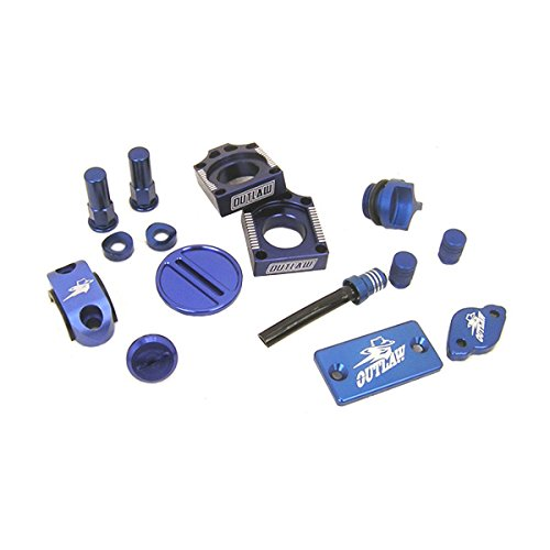 Outlaw Racing Complete Billet MX Motocross Kit Blue YZ250F YZ450F