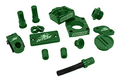 Outlaw Racing Complete Billet MX Motocross Kit Green KX250