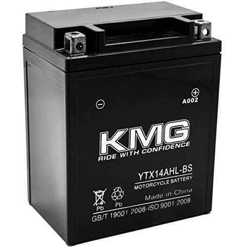 KMG YTX14AHL-BS Battery For Kawasaki 900 Z1 Series 1973-1975 Sealed Maintenace Free 12V Battery High Performance SMF OEM Replacement Maintenance Free Powersport Motorcycle ATV Snowmobile Watercraft