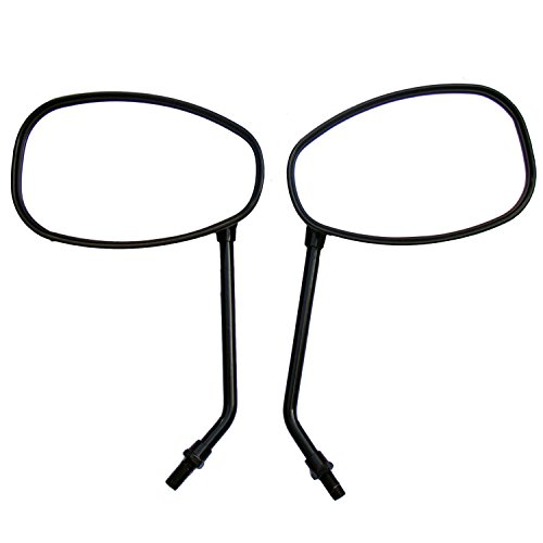 One Pair Black Oval Rear View Mirrors for 2006 Kawasaki Eliminator 125 BN125A