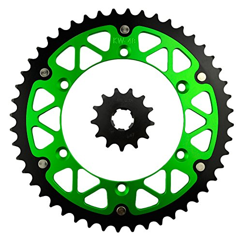 AHL Front Rear Sprocket Kit for Kawasaki 250 KLX250 1982 1993-1995 13T-48T