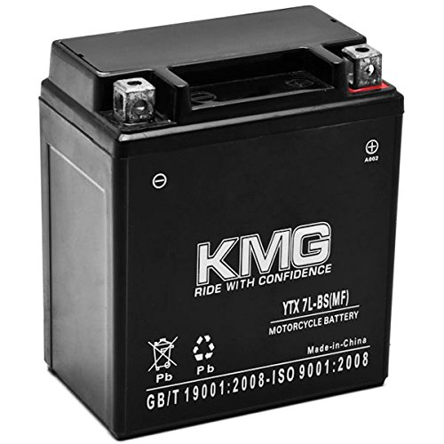 KMG Kawasaki 250 KLX250S SF 2006-2012 YTX7L-BS Sealed Maintenace Free Battery High Performance 12V SMF OEM Replacement Maintenance Free Powersport Motorcycle ATV Scooter Snowmobile KMG