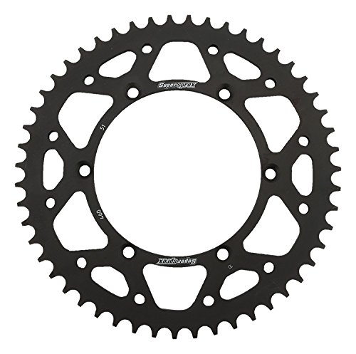 Supersprox RFE-460-51-BLK Rear Steel Sprocket Black For Kawasaki 250 KDX 91 92 93 94 KLX 250 R 94 95 96 KLX 250 S 06 07 08 09 10 11 12 13 14 KLX 300 R 97 98 99 00 01 02 03 04 05 06 07