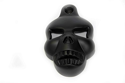 Black Skull Horn Cover For Harley Big Twins V-rods Stock Cowbell Horns 1992-2013