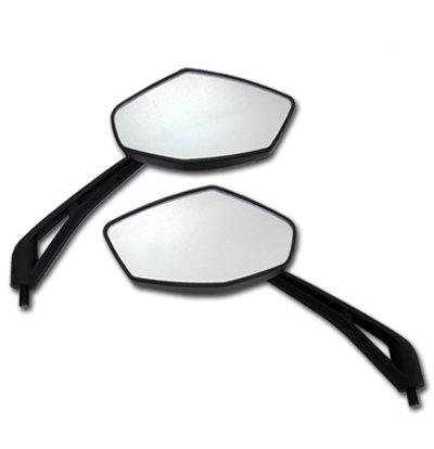 Black Diamond Motorcycle Mirrors for Ducati Monster 620 750
