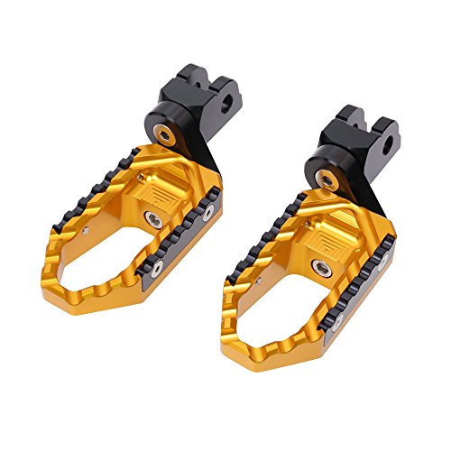 Gold CNC 25mm Adjustable Riser Front Touring Foot Pegs For Ducati Multistrada 620 All Year