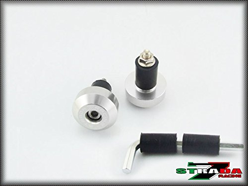 Strada 7 Racing CNC Handle Bar Ends Green For Ducati S4R  S4RS