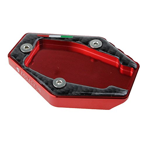 PRO-KODASKIN Motorcycle CNC Aluminum Side Stand Enlarge Plate for Ducati MONSTER 821 1200 2014-2015 MONSTER 795 796 Red