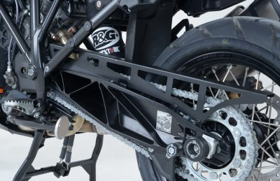 R&G Aluminium Chain Guard Black KTM 1190 Adventure replaces original part and is full length of chain