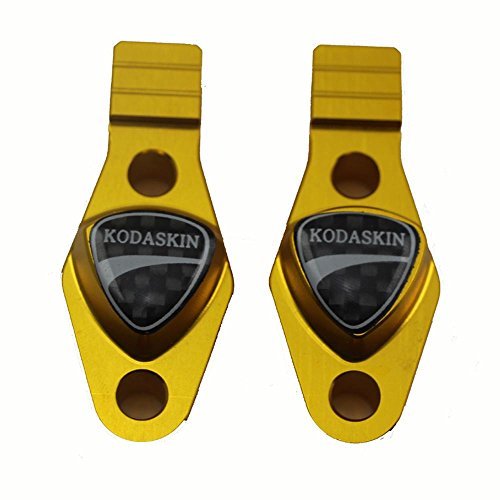PRO-KODASKIN Motorcycle Carbon Handlebar Bar Clamp with Mirror Adapter for Ducati Monster 796 696 695 Gold