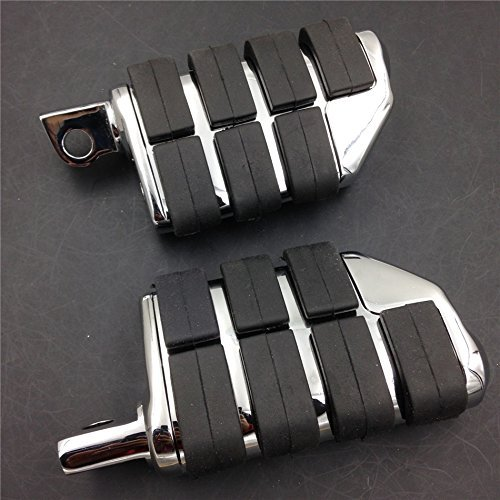 Motorcycle 8028 ISO Dually Foot Rest pegs For Harley Touring Electra Glide Softail Dyna