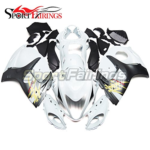 Sportfairings Full Fairing Kit For Suzuki GSX-R 1300 GSX-R GSXR 1300 Hayabusa 2008 2009 2010 2011 2012 2013 2014 2015 Bodywork White Grey Frames