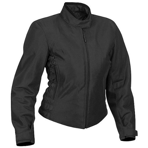 River Road Yuma Women's Textile Mesh Touring Motorcycle Jacket - Black / Size X-large