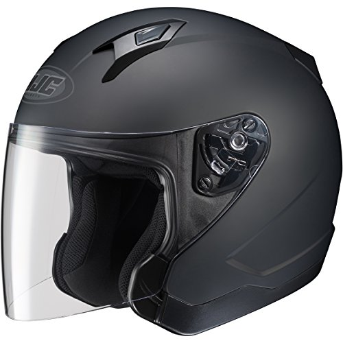 Hjc Solid Cl-jet Half (1/2) Shell Motorcycle Helmet - Matte Black / Large