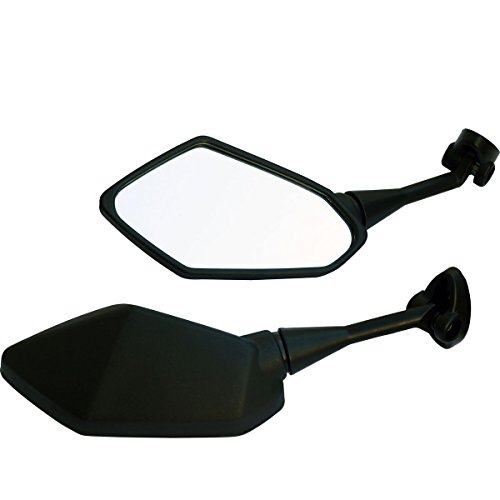 One Pair Black Sport Bike Mirrors for 2007 Yamaha YZF R1