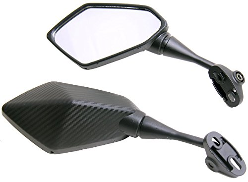 One Pair Carbon Fiber look Sport Bike Mirrors for 2002 Yamaha YZF R1