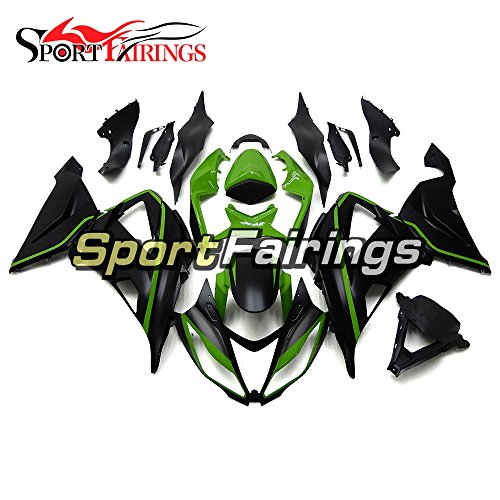 Sportfairings Injection ABS Plastics Motorcycle Fairing Kits For Kawasaki ZX6R Ninja636 Year 2013 - 2016 13 14 15 16 Green Black Motorbike Cowling Bodywork