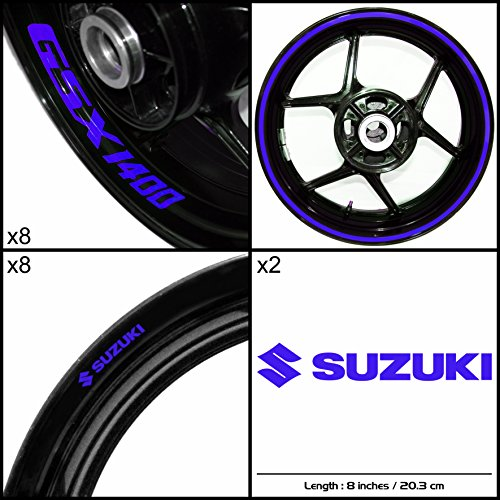 Stickman Vinyls Suzuki GSX 1400 Motorcycle Decal Sticker Package Gloss Blue Graphic Kit