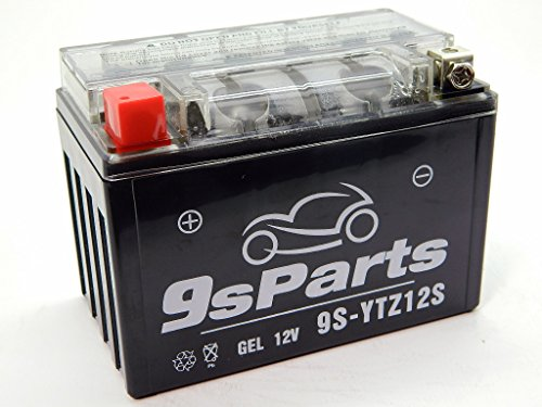 9sparts YTZ12S Maintenace Free 12V Sealed Gel Battery For 2014-2016 Honda VFR700 Interceptor 2002-2012 Honda VFR800 Interceptor 2000-2006 Honda RVT1000R RC51 2001-2005 VTR1000F Super Hawk