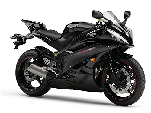 Glossy Black ABS Injection Plastic Bodywork Fairing Fit for Yamaha 2006 2007 YZF R6