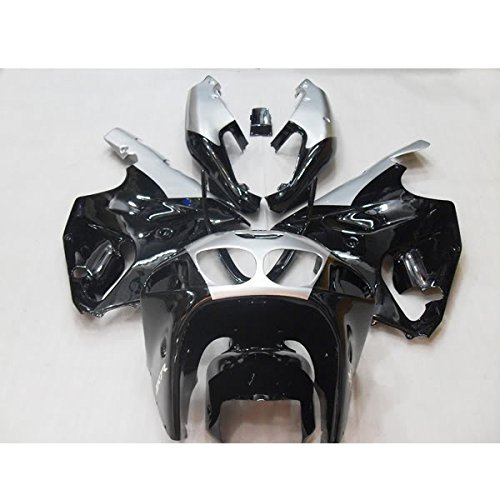 Wotefusi Brand New Motorcycle ABS Plastic Painted Compression Mold Bodywork Fairing Kit Set For Kawasaki Ninja ZX7R ZX-7R 1997 1998 1999 2000 2001 2002 2003 Black