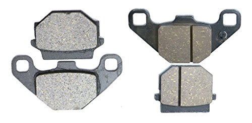CNBK Motorcycle Carbon Brake Shoe Pads Set fit KAWASAKI Street Bike KMX125 KMX 125 cc 125cc 86 1986up 4 Pads