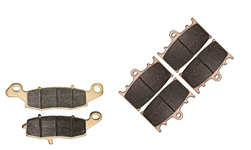 CNBK Sinter HH Brake Pad Set for KAWASAKI Street Bike VN1700 VN 1700 cc 1700cc B9F Voyager ABS 2009 2010 2011 2012 2013 2014 2015 09 10 11 12 13 14 15 6 Pads
